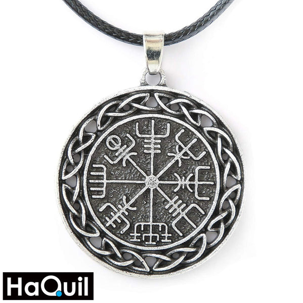 Haquil Viking Icelandic Vegvisir Symbol Pendant Necklace Alloy / Mens Metal Jewelry