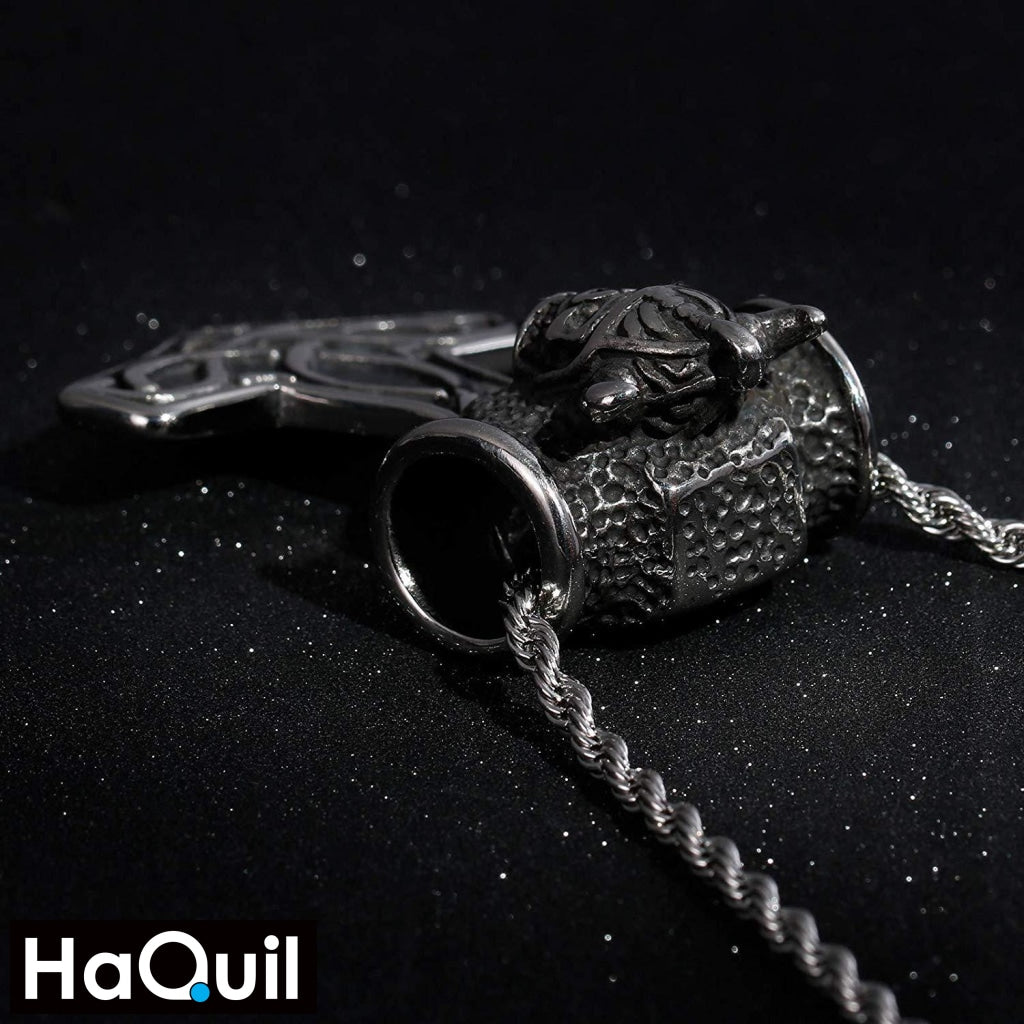 Haquil Viking King Hammer Necklace Jewelry