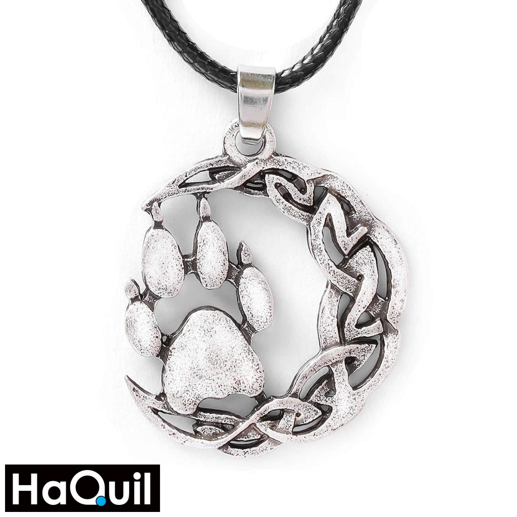 Haquil Viking Knotted Bear Paw Pendant Necklace Alloy / Mens Metal Jewelry