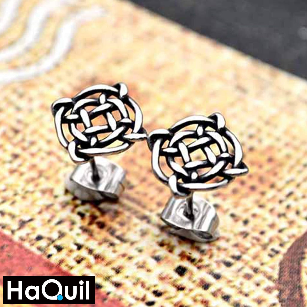 Haquil Viking Knotwork Earrings Jewelry