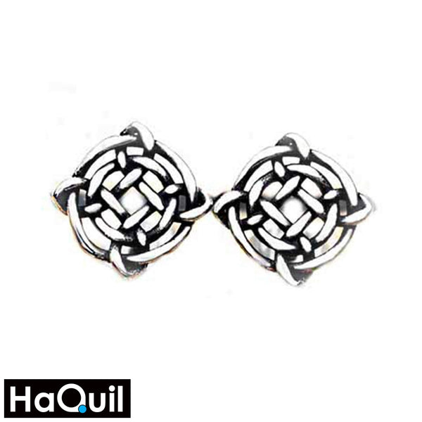 Haquil Viking Knotwork Earrings Stainless-Steel / Womens Metal Jewelry