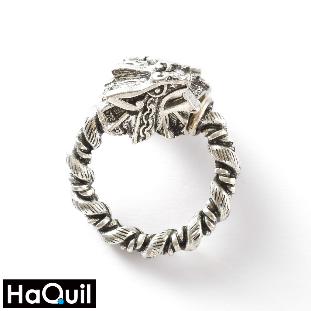 Haquil Viking Magnetic Two Heads Wolf Ring Alloy / Womens Metal Jewelry