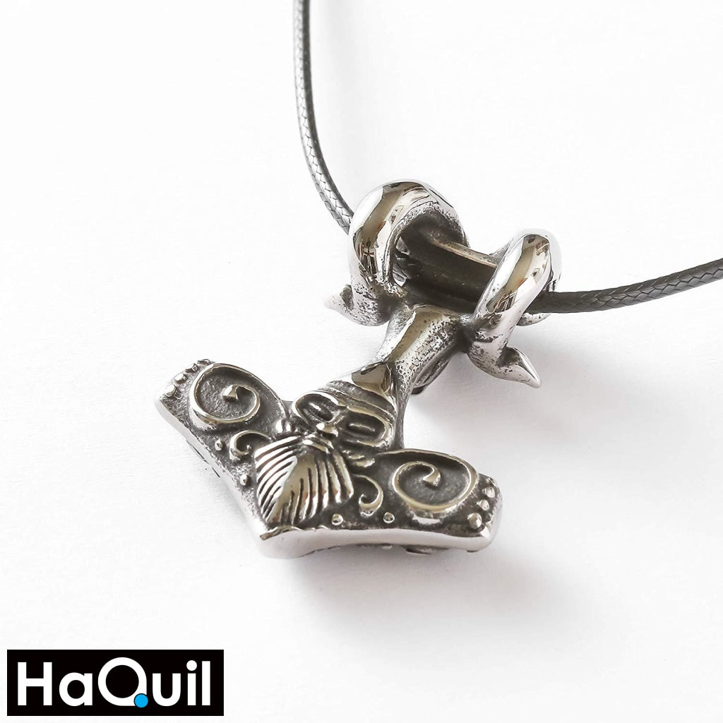 Haquil Viking Mjolnir Goat Stainless Steel Necklace Jewelry