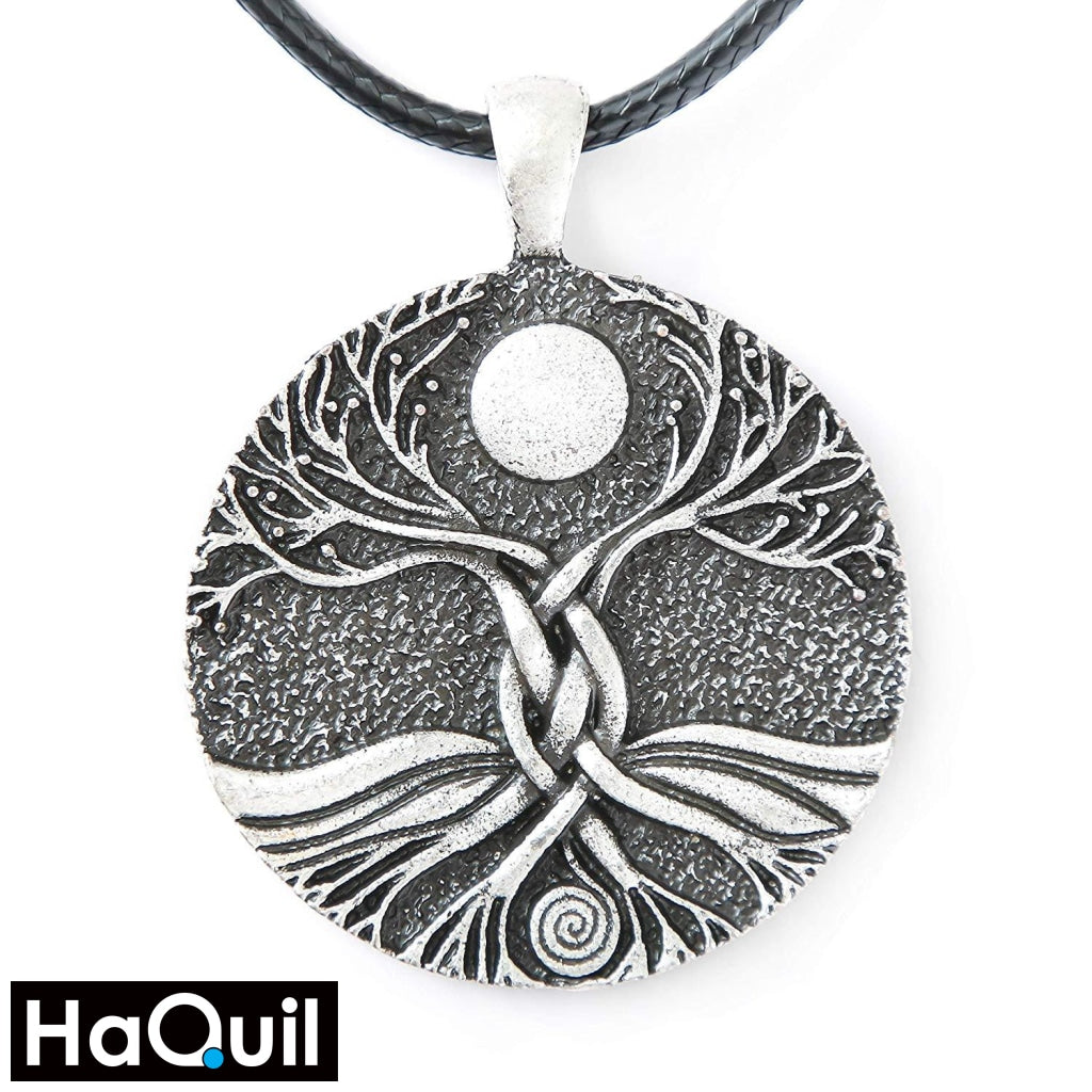 Haquil Viking Moon Ritual Tree Of Life Necklace Alloy / Boys Metal Jewelry