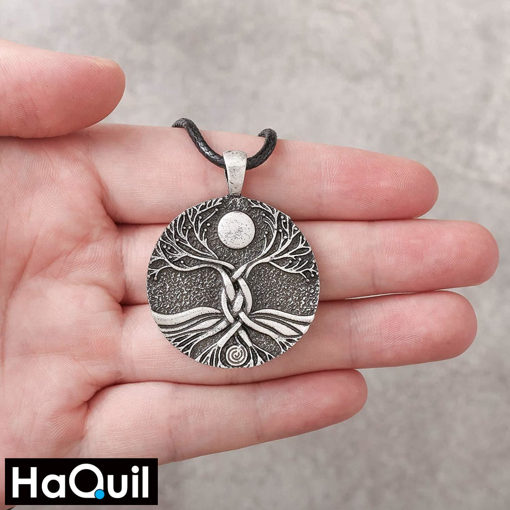 Haquil Viking Moon Ritual Tree Of Life Necklace Jewelry