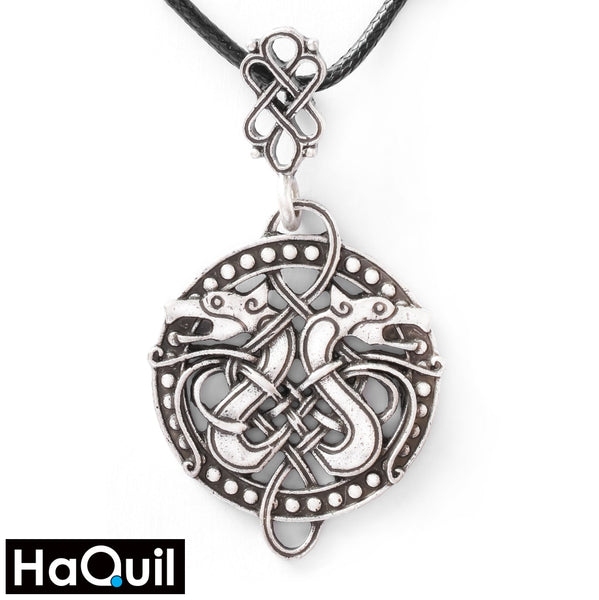 Haquil Viking New Double Dragon Necklace Alloy / Womens Metal Jewelry