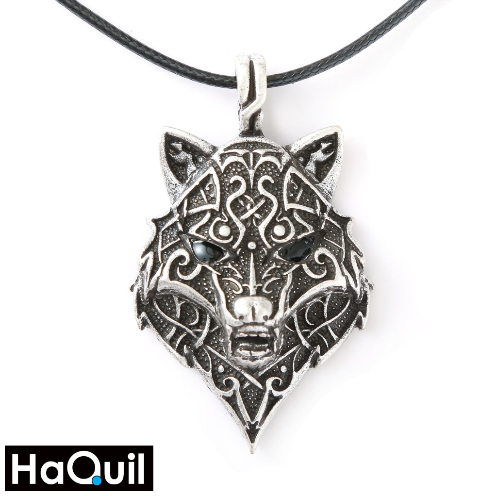 Haquil Viking Norse Wolf Head Necklace Alloy / Womens Metal Jewelry