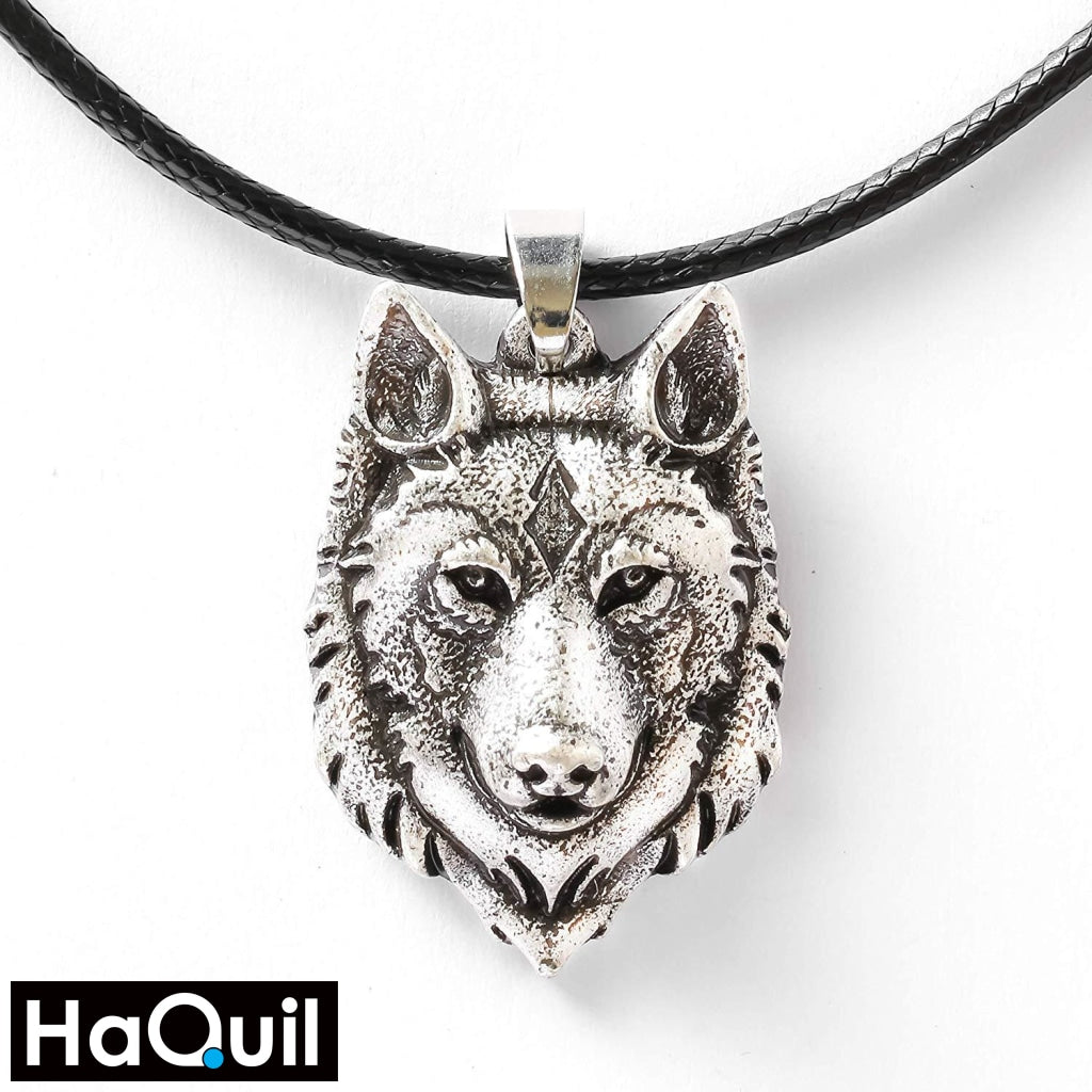 Haquil Viking Norse Wolf Head Necklace New Jewelry