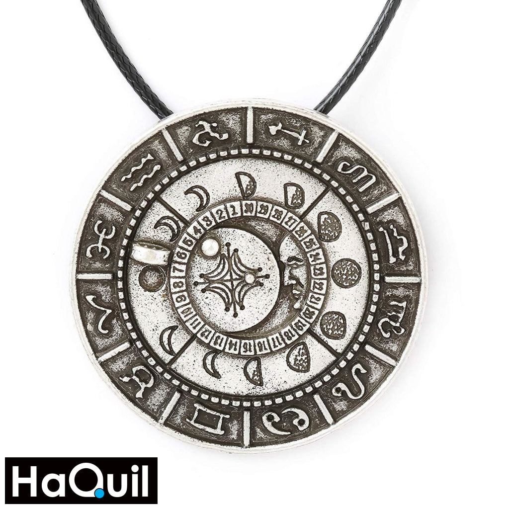 Haquil Viking Old Moon Phase Necklace Alloy / Womens Metal Jewelry