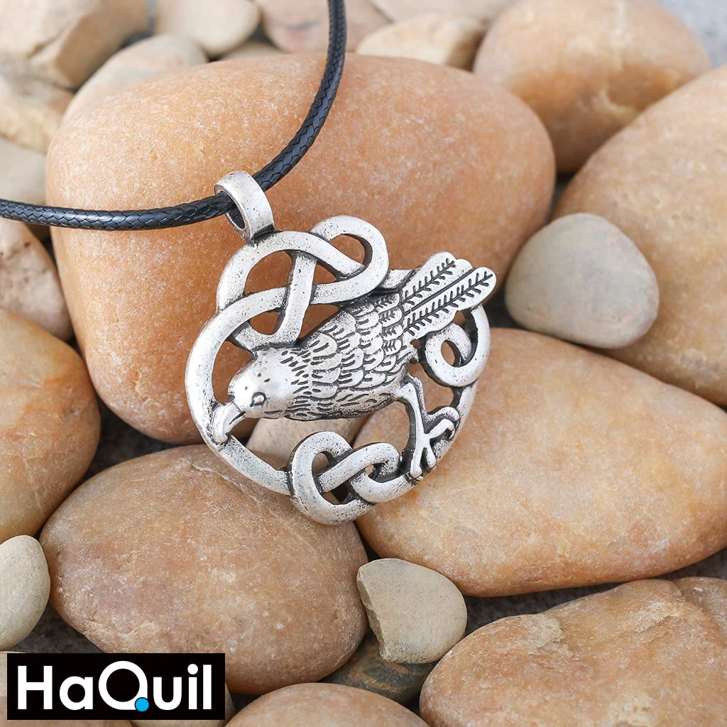 Haquil Viking Raven Bird Necklace Jewelry