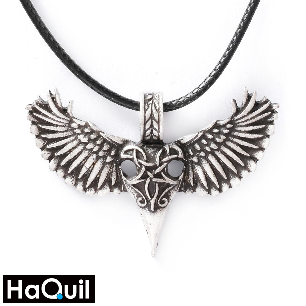 Haquil Viking Raven Bird Wing Heart Necklace Alloy / Boys Metal Jewelry