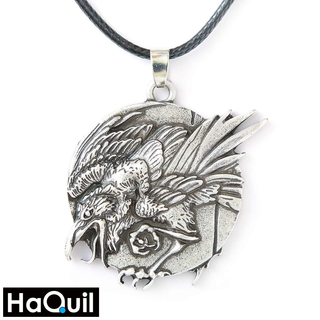Haquil Viking Raven Necklace Alloy / Womens Metal Jewelry