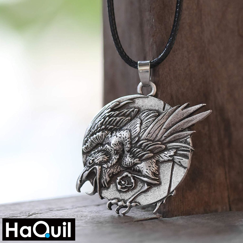 Haquil Viking Raven Necklace Jewelry