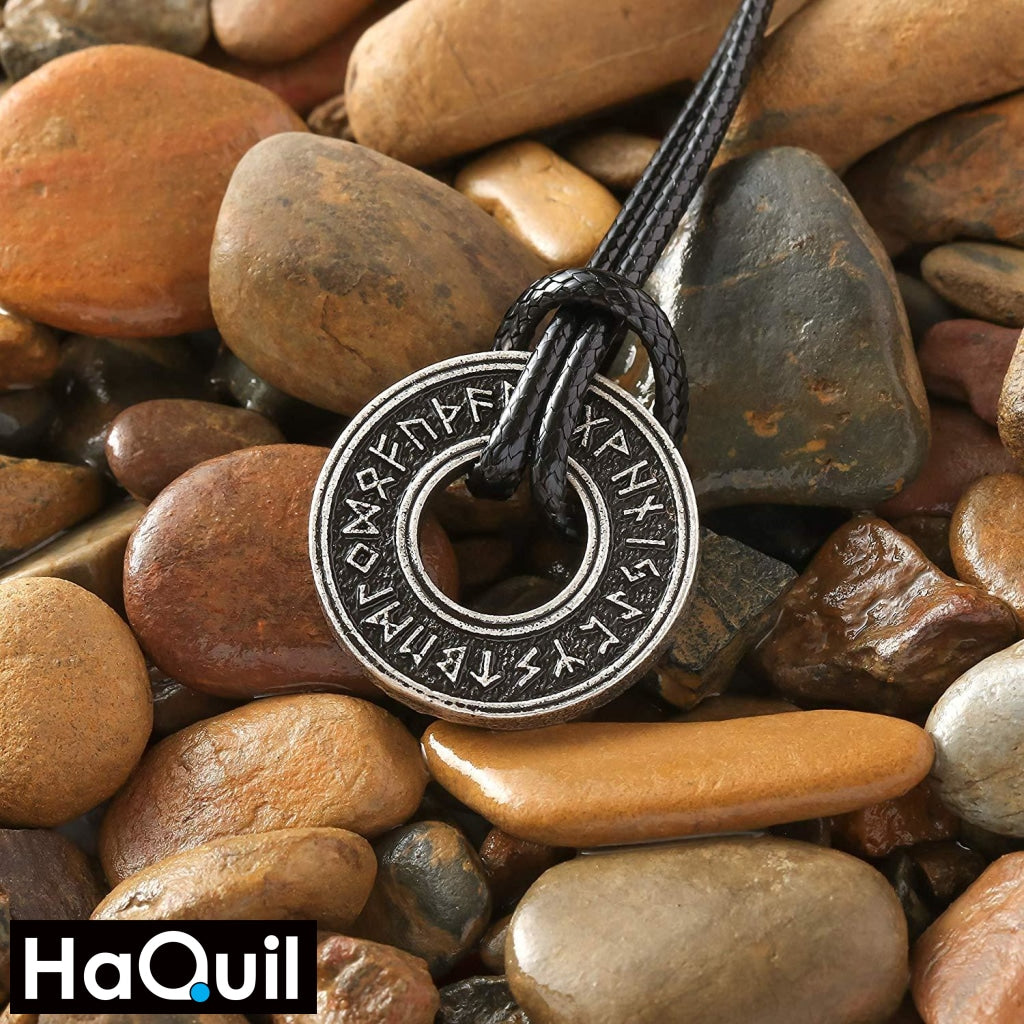 Haquil Viking Runic Nordic Pendant Talisman Necklace Jewelry