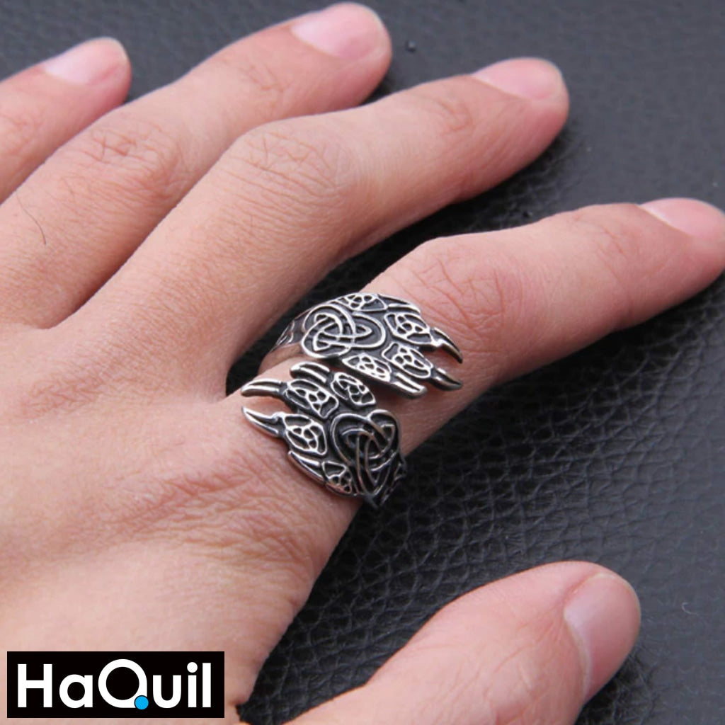 Haquil Viking Sharp Bear Claws Ring Jewelry