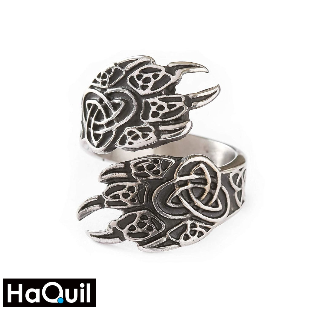Haquil Viking Sharp Bear Claws Ring Stainless-Steel / Womens Metal Jewelry