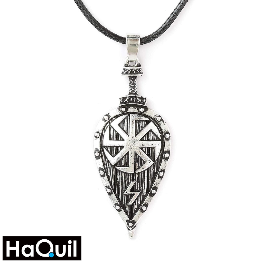 Haquil Viking Slavic Kolovrat Shield Necklace Alloy / Womens Metal Jewelry