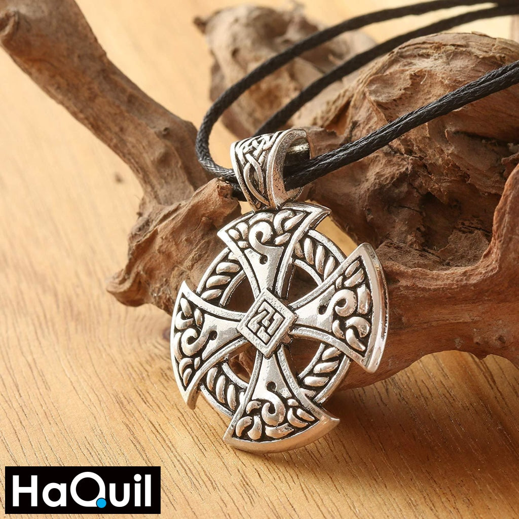 Haquil Viking Solar Knotwork Necklace Jewelry