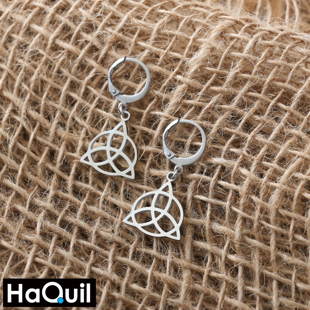 Haquil Viking Stainless Steel No Plated Celtic Knot Earrings Jewelry