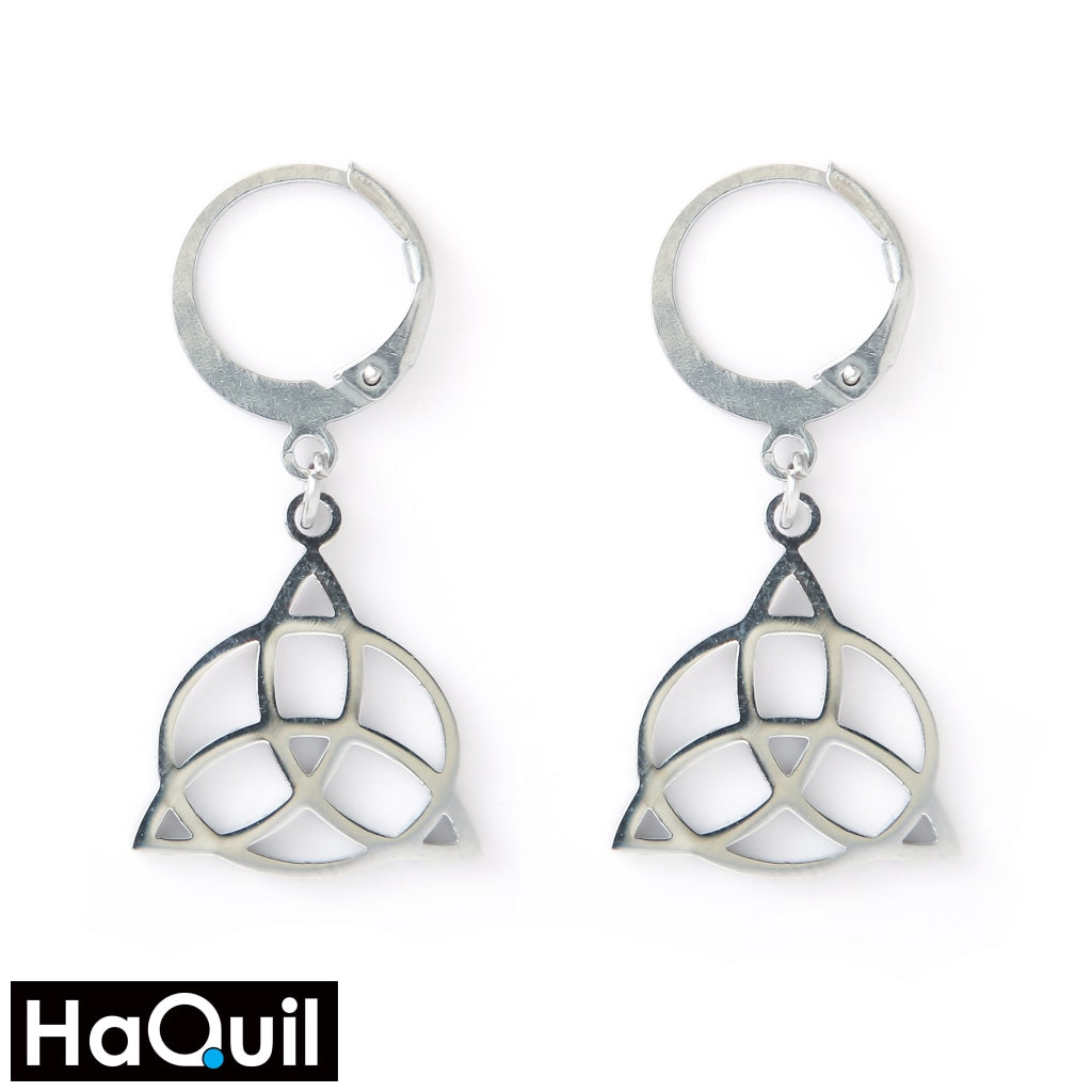 Haquil Viking Stainless Steel No Plated Celtic Knot Earrings Stainless-Steel / Womens Metal Jewelry