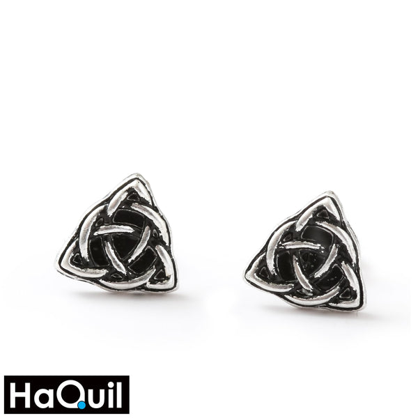 Haquil Viking Symbol Triquetra Earrings Alloy / Womens Metal Jewelry