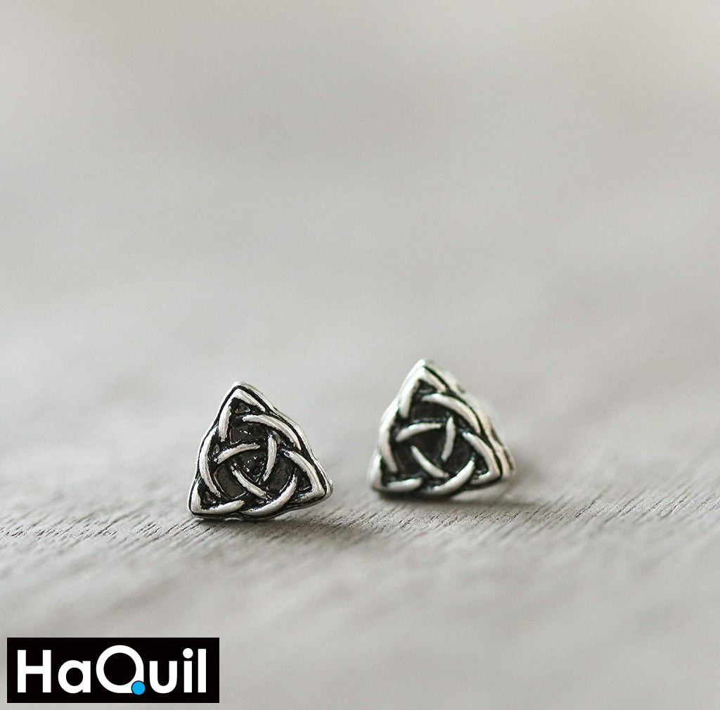 Haquil Viking Symbol Triquetra Earrings Jewelry