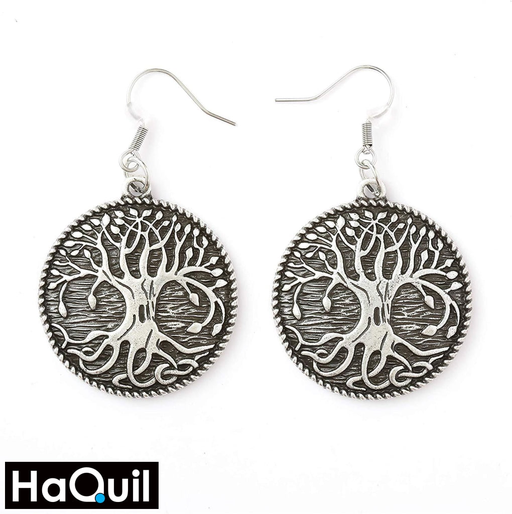 Haquil Viking Tree Of Life Earrings Alloy / Womens Metal Jewelry