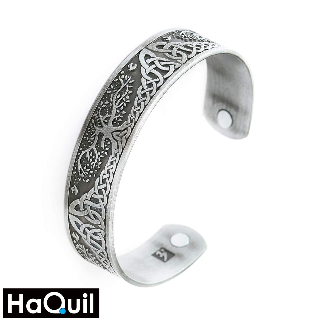 Haquil Viking Tree Of Life Magnet Bracelet Alloy / Womens Metal Jewelry