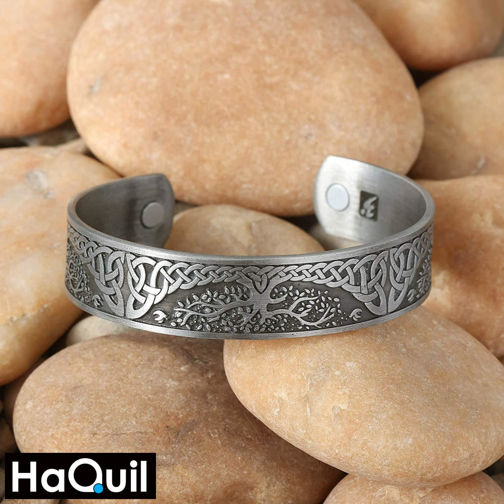 Haquil Viking Tree Of Life Magnet Bracelet Jewelry
