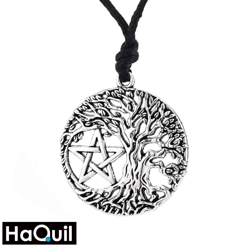 Haquil Viking Tree Of Life Pentacle Necklace Alloy / Boys Metal Jewelry