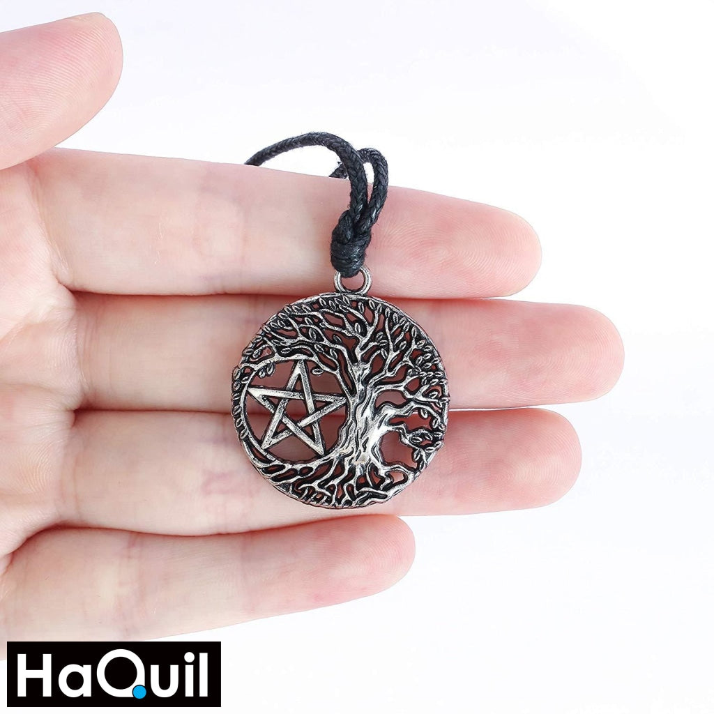 Haquil Viking Tree Of Life Pentacle Necklace Jewelry