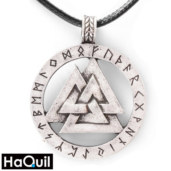 Haquil Viking Triangle Triple Horn Of Odin Necklace Alloy / Mens Metal Jewelry