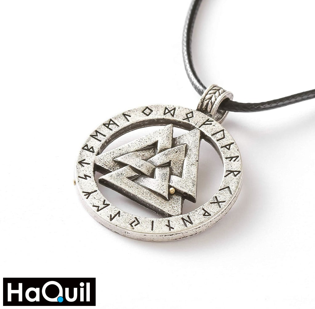 Haquil Viking Triangle Triple Horn Of Odin Necklace Jewelry