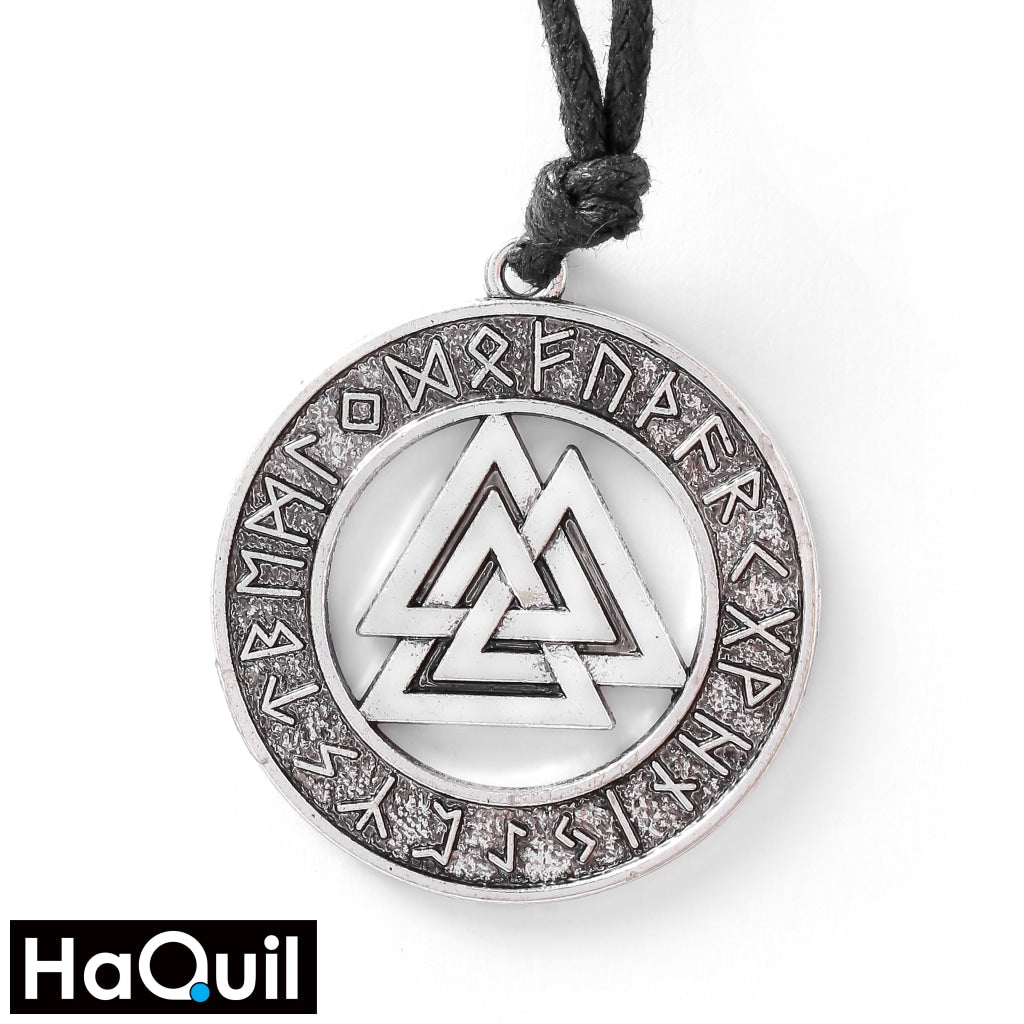 Haquil Viking Valknut Nordic Runes Necklace Alloy / Mens Metal Jewelry