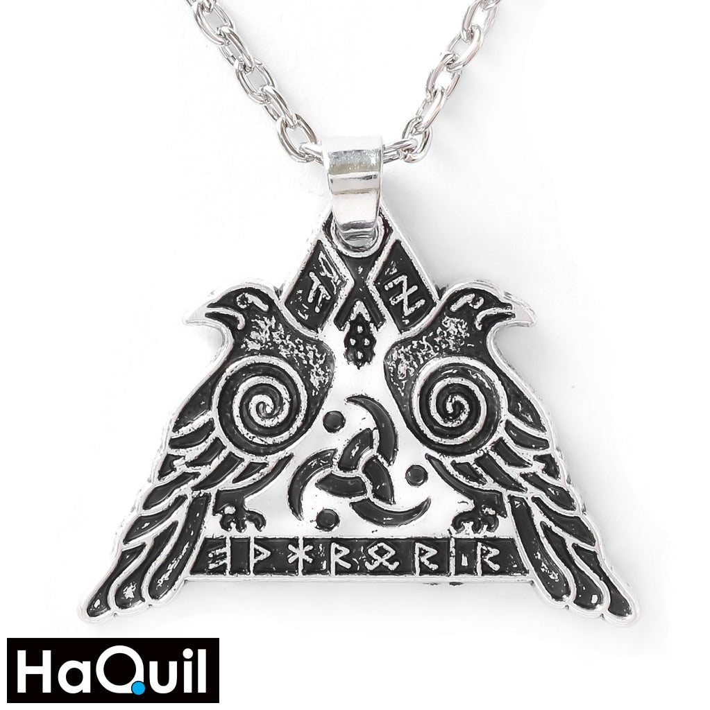 Haquil Viking Valknut Raven Military Protection Necklace Alloy / Mens Metal Jewelry