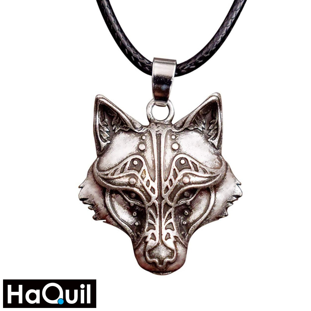 Haquil Viking Wolf And Raven Winged Necklace Alloy / Womens Metal Jewelry