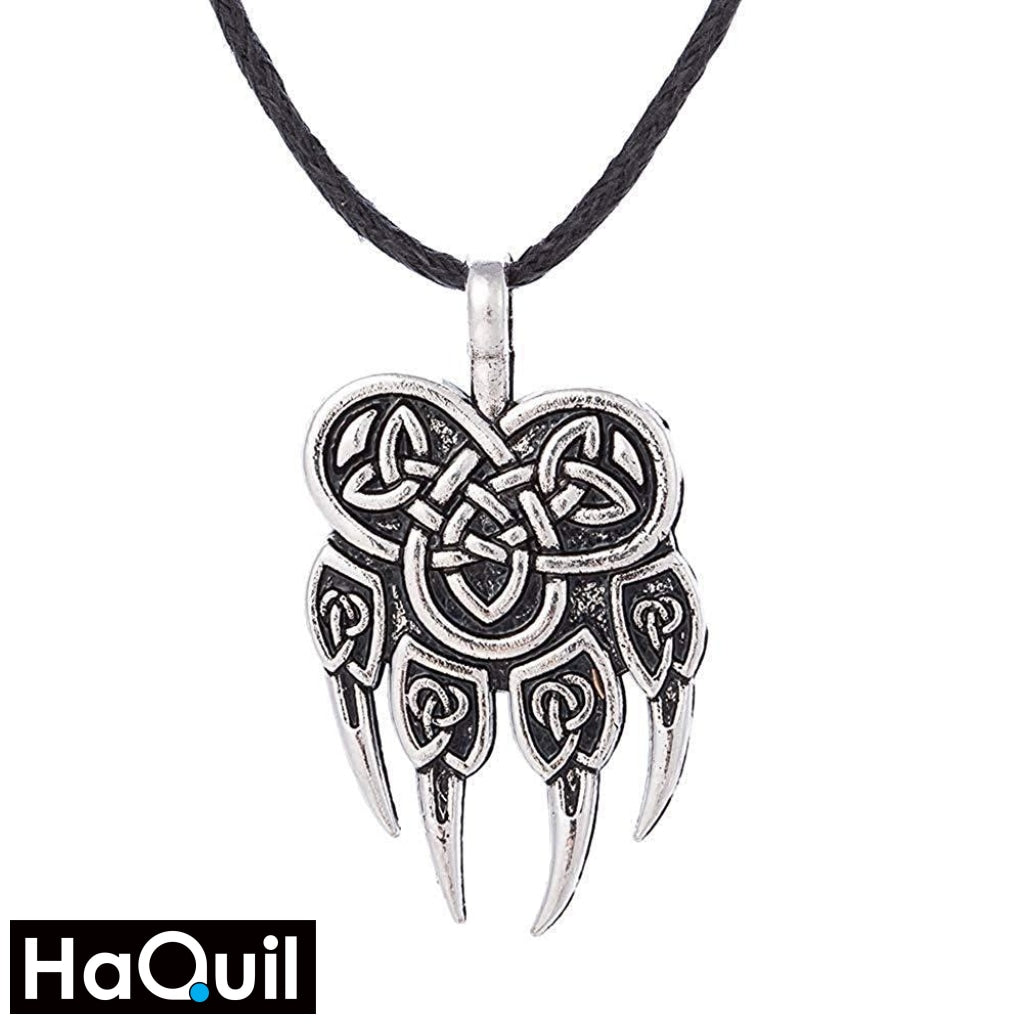 Haquil Viking Wolf Claw Nordic Runes Necklace Alloy / Boys Metal Jewelry
