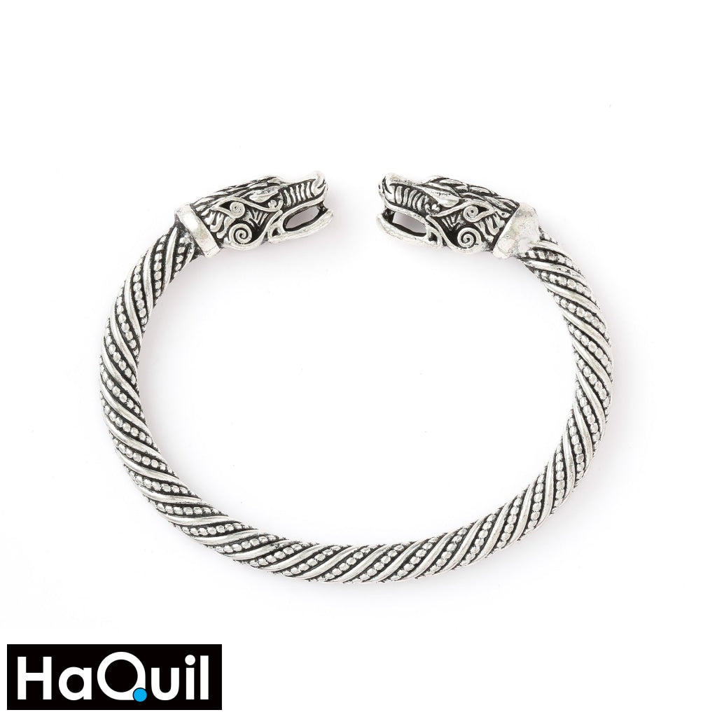 Haquil Viking Wolf Head Bangle Bracelet Alloy / Womens Metal Jewelry