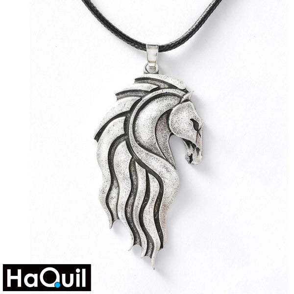 Haquil Vintage Celtic Horse Necklace Alloy / Mens Metal Jewelry