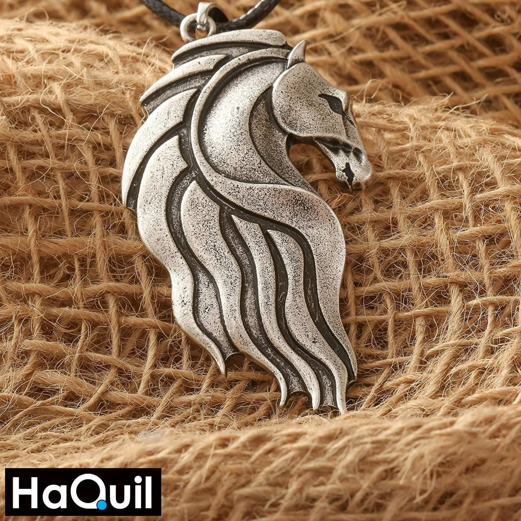 Haquil Vintage Celtic Horse Necklace Jewelry