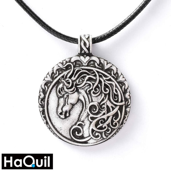 Haquil Vintage Dressage Horse Necklace Alloy / Womens Metal Jewelry