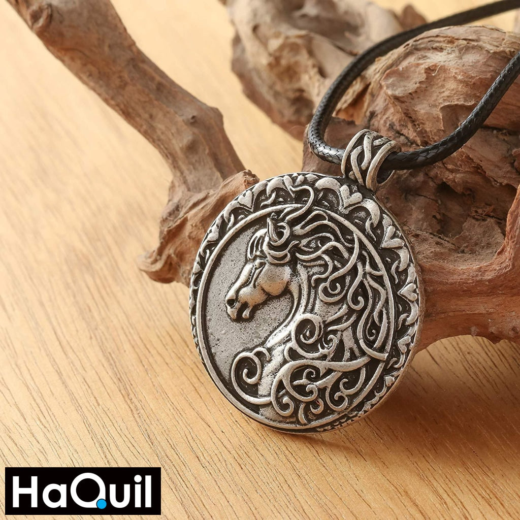 Haquil Vintage Dressage Horse Necklace Jewelry