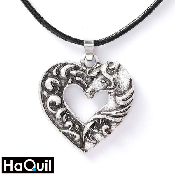 Haquil Vintage Love Horse Necklace Alloy / Womens Metal Jewelry