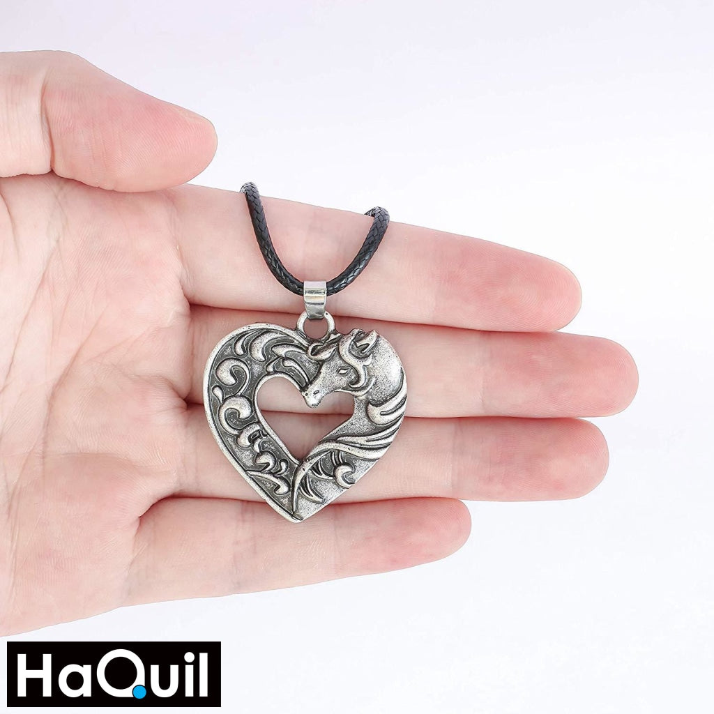 Haquil Vintage Love Horse Necklace Jewelry