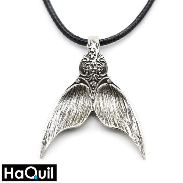 Haquil Vintage Silver Mermaid Tail Necklace Alloy / Girls Metal Jewelry