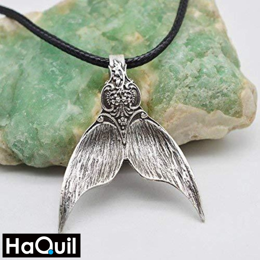 Haquil Vintage Silver Mermaid Tail Necklace Jewelry