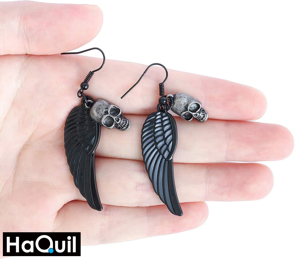 Haquil Vintage Skull Earrings Jewelry