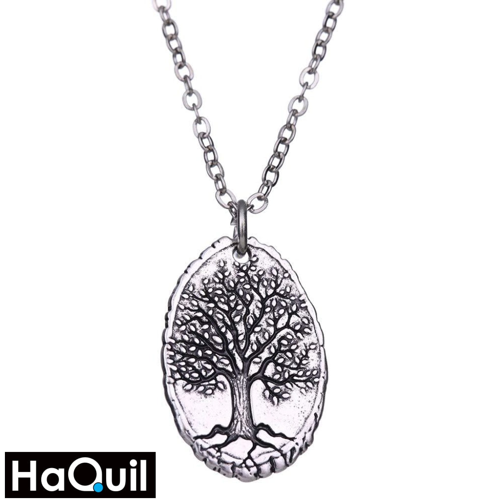 Haquil Vintage Tree Of Life Necklace Alloy / Mens Metal Jewelry