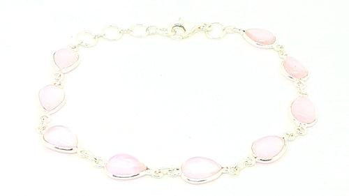 Rose Quartz Teardrop Bracelet