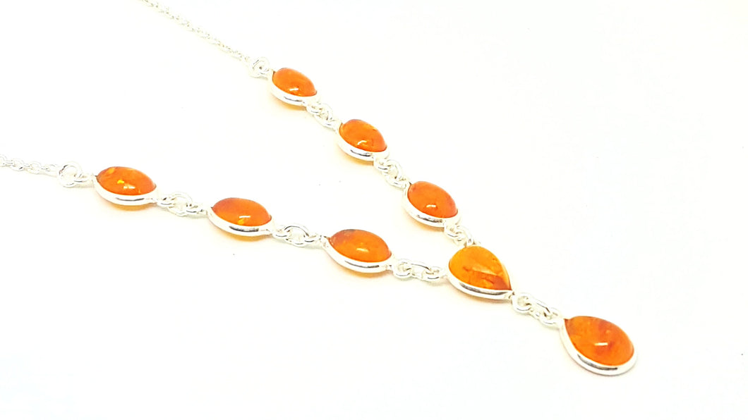 Amber Teardrop Necklace